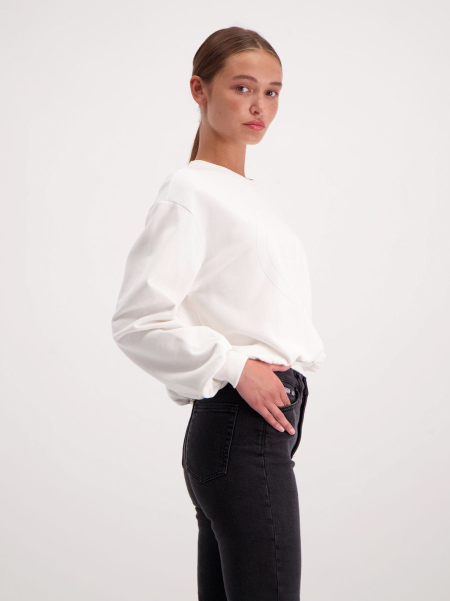 AMENDI white sweatshirt for womens in organic cotton