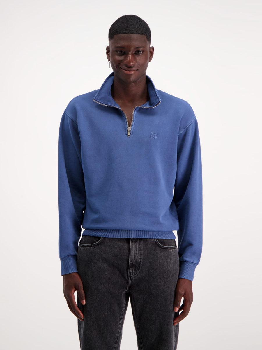 AMENDI blue sweatshirt in organic cotton